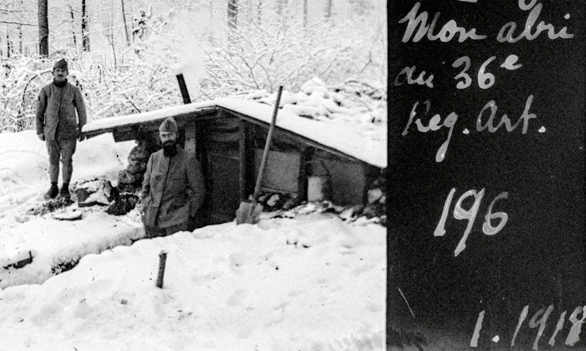 """My Shelter at 36th Artillery Regiment"", Verdun, 1918"