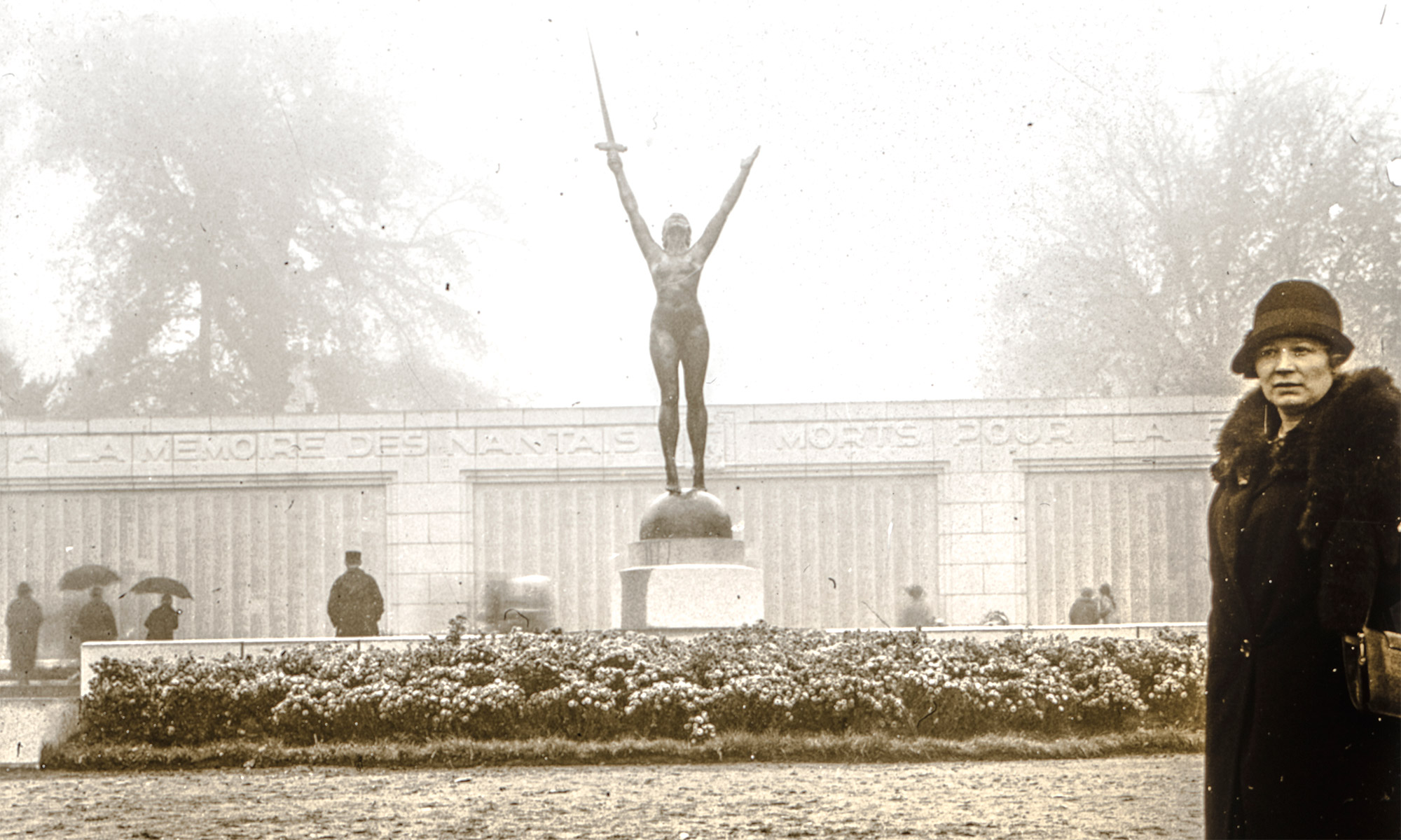 """La Délivrance"", part of the Nantes Memorial to the War Dead, in 1927"